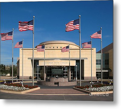 George Bush Presidential Library - College Station Texas Metal Print by Connie Fox