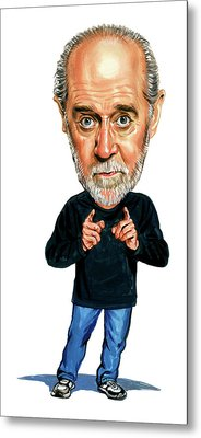George Carlin Metal Print
