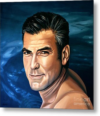 George Clooney 2 Metal Print by Paul Meijering
