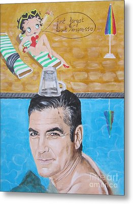 George Clooney Metal Print by Jeepee Aero