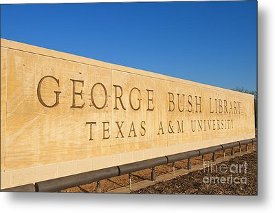 George H. Bush Library, Texas Metal Print by Bill Bachmann
