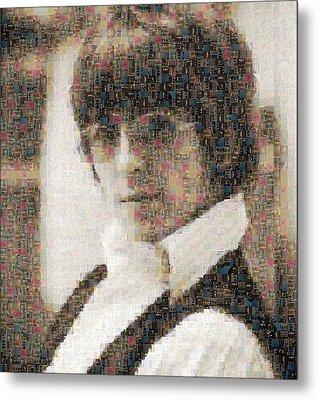 George Harrison Mosaic Image 2 Metal Print
