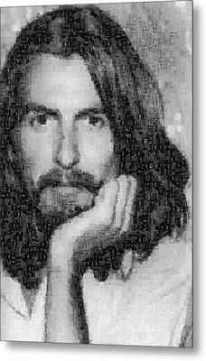 George Harrison Mosaic Image 3 Metal Print