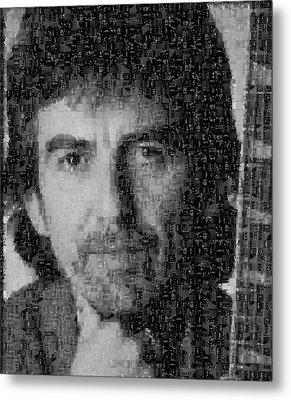 George Harrison Mosaic Image 4 Metal Print