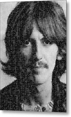 George Harrison Mosaic Image 7 Metal Print