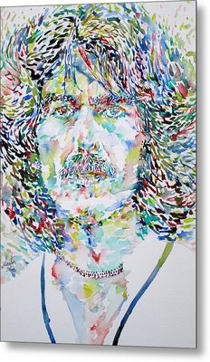 George Harrison Portrait.2 Metal Print by Fabrizio Cassetta
