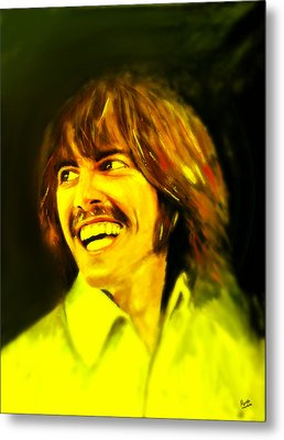 George Harrison - The Beatles Metal Print by Marcello Cicchini