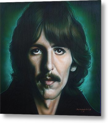 George Harrison Metal Print by Timothy Scoggins