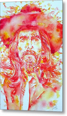 George Harrison With Hat Metal Print by Fabrizio Cassetta