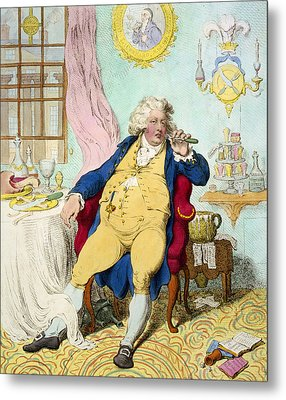 George Iv Metal Print by James Gilray