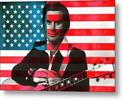 George Jones American Country Metal Print by Dan Sproul