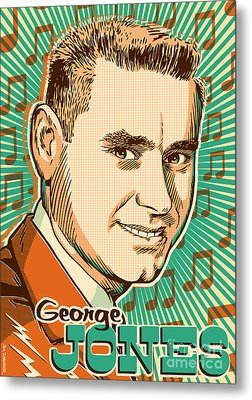 George Jones Pop Art Metal Print by Jim Zahniser