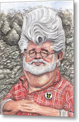 George Lucas Metal Print by Mark Tavares