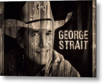George Strait Barn Door Metal Print by Dan Sproul