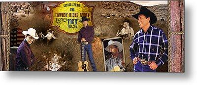 George Strait Cowboy Rides Away Metal Print by Retro Images