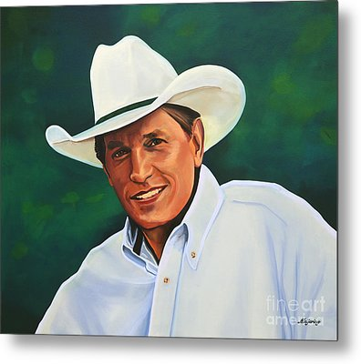 George Strait Metal Print by Paul Meijering