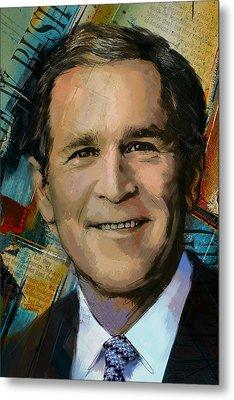 George W. Bush Metal Print by Corporate Art Task Force