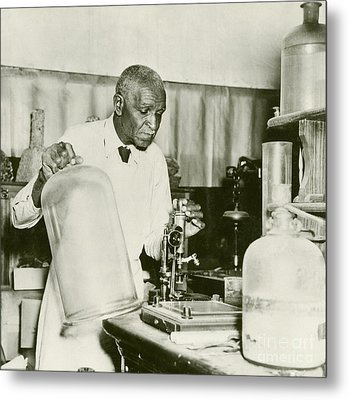 George W. Carver, Us Agriculturalist Metal Print by Schomburg Center For Research In Black Culture