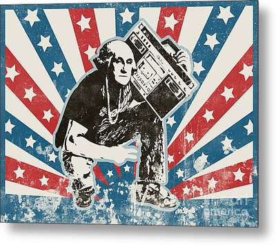 George Washington - Boombox Metal Print by Pixel Chimp