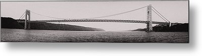 Metal Print featuring the photograph George Washington Bridge by Chris McKenna