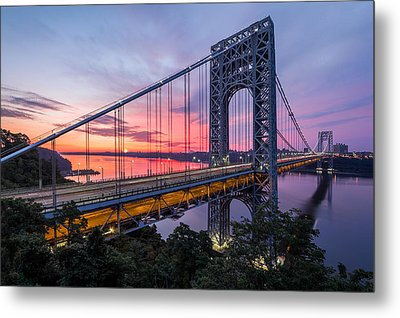 George Washington Bridge Metal Print by Mihai Andritoiu