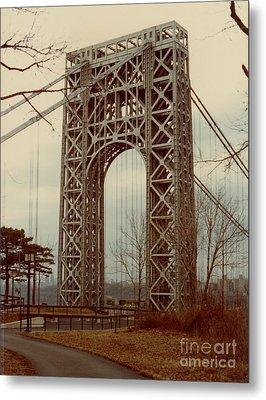 George Washington Bridge Metal Print by Nancie Johnson
