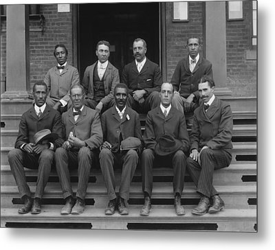 George Washington Carver And Staff 1902 Metal Print by Mountain Dreams