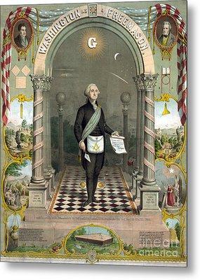 George Washington Freemason Metal Print by Photo Researchers