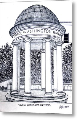 George Washington University Metal Print
