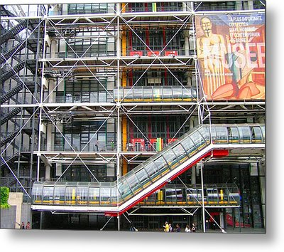 Georges Pompidou Centre Metal Print