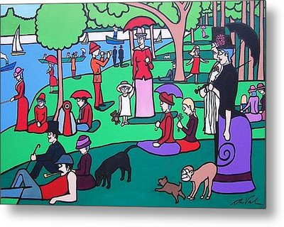 George Seurat- A Cyclops Sunday Afternoon On The Island Of La Grande Jatte Metal Print