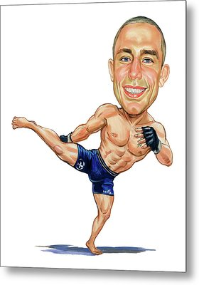 Georges St. Pierre Metal Print by Art