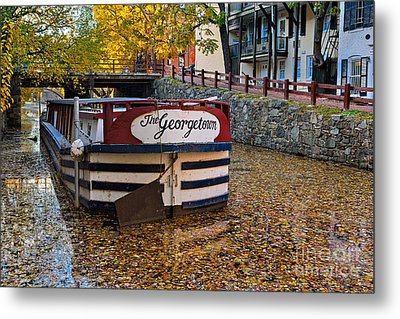 Georgetown Barge Metal Print