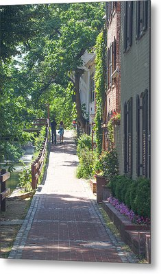Georgetown Canal Walk Metal Print by David Nichols