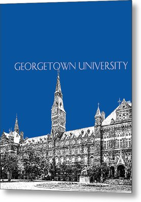 Georgetown University - Royal Blue Metal Print by DB Artist