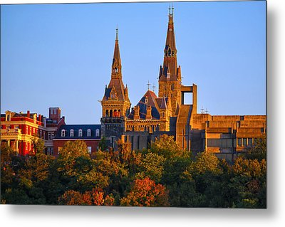 Georgetown University Metal Print by Mitch Cat