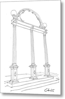 Metal Print featuring the drawing Georgia Arch by Calvin Durham