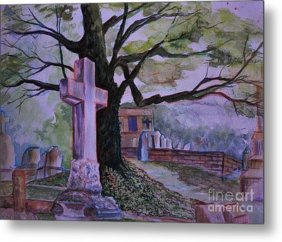 Georgia Graveyard  Metal Print by Janet Felts
