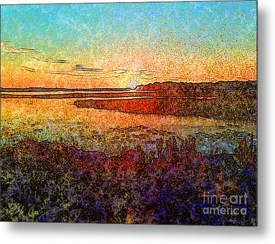 Georgian Bay Sunset Metal Print by Claire Bull