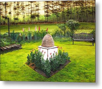 Georgian Herb Garden Metal Print