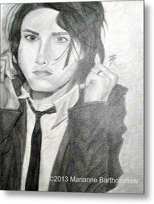 Gerard Way Metal Print by Marianne Bartholomew