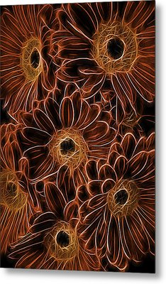 Gerbera Abstract Metal Print by Garry Gay