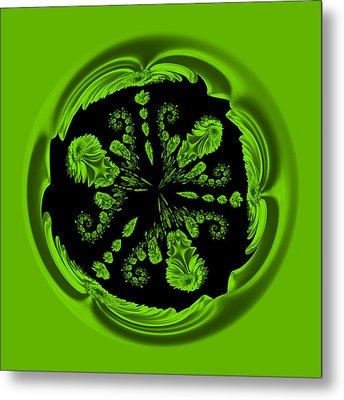 Gerbia Daisy Digitized Orb Metal Print by Bill Barber