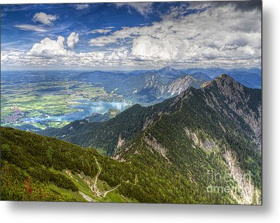 Metal Print featuring the photograph German Alps View I by Juergen Klust