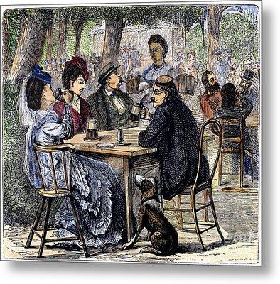 German Beer Garden, 1870 Metal Print by Granger