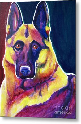 German Shepherd - Burner Metal Print by Alicia VanNoy Call