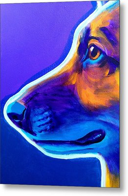 German Shepherd - Face Metal Print by Alicia VanNoy Call