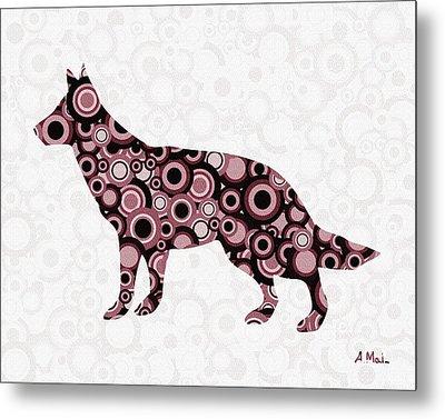 German Shepherd - Animal Art Metal Print by Anastasiya Malakhova