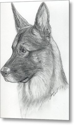 German Shepherd Metal Print by Lorah Buchanan