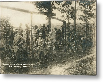 German Sw Africa Executions Metal Print by Underwood Archives